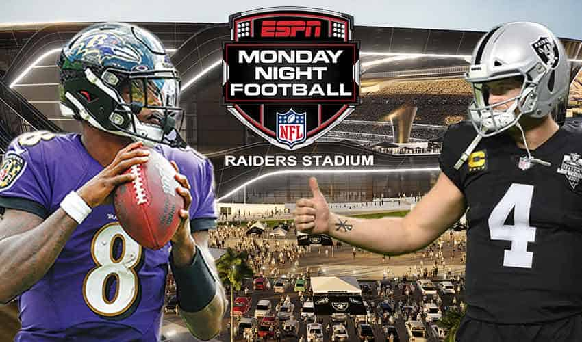 monday night football odds are consistent at online nfl betting